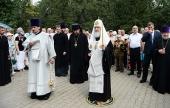 Святейший Патриарх Кирилл совершил литию в Мемориально-парковом комплексе героев Первой мировой войны на Соколе