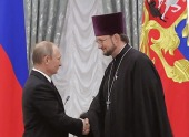 Президент России вручил знак отличия «За благодеяние» директору детского хосписа Санкт-Петербургской епархии