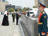 Святейший Патриарх Кирилл принял участие в церемонии открытия памятника героям Первой мировой войны на Поклонной горе