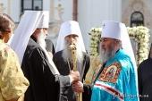 В Киево-Печерской лавре состоялась интронизация митрополита Киевского и всея Украины Онуфрия