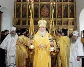 Святейший Патриарх Кирилл посетил скиты Соловецкого монастыря