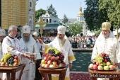 В праздник Преображения Господня новоизбранный Предстоятель Украинской Православной Церкви совершил Литургию в Киево-Печерской лавре