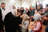 В праздник Преображения Господня Предстоятель Русской Церкви совершил Литургию в Соловецком монастыре