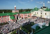Предстоятель Русской Церкви совершил Литургию в подмосковном Николо-Пешношском монастыре