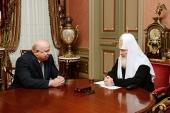 Святейший Патриарх Кирилл встретился с и.о. губернатора Нижегородской области В.П. Шанцевым