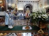 В канун Успения Пресвятой Богородицы Святейший Патриарх Кирилл совершил всенощное бдение в Храме Христа Спасителя