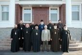 Члены Синода Казахстанского митрополичьего округа встретились с послом России в Казахстане