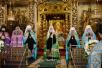 Патриаршее служение в праздник Донской иконы Божией Матери в Донском монастыре. Хиротония архимандрита Владимира (Агибалова) во епископа Новокузнецкого и Таштагольского