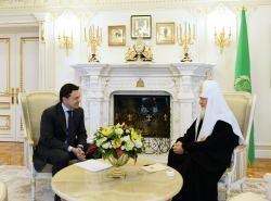 Состоялась встреча Святейшего Патриарха Кирилла с губернатором Московской области А.Ю. Воробьевым