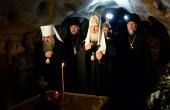 Предстоятель Русской Церкви посетил Псково-Печерский мужской монастырь