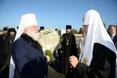 Святейший Патриарх Кирилл прибыл в Псковскую епархию
