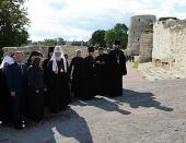 В завершение визита в Псковскую епархию Святейший Патриарх Кирилл посетил Изборск