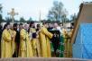 Патриарший визит в Псковскую епархию. Освящение закладного камня в основание храма паломнического центра Псково-Печерского монастыря