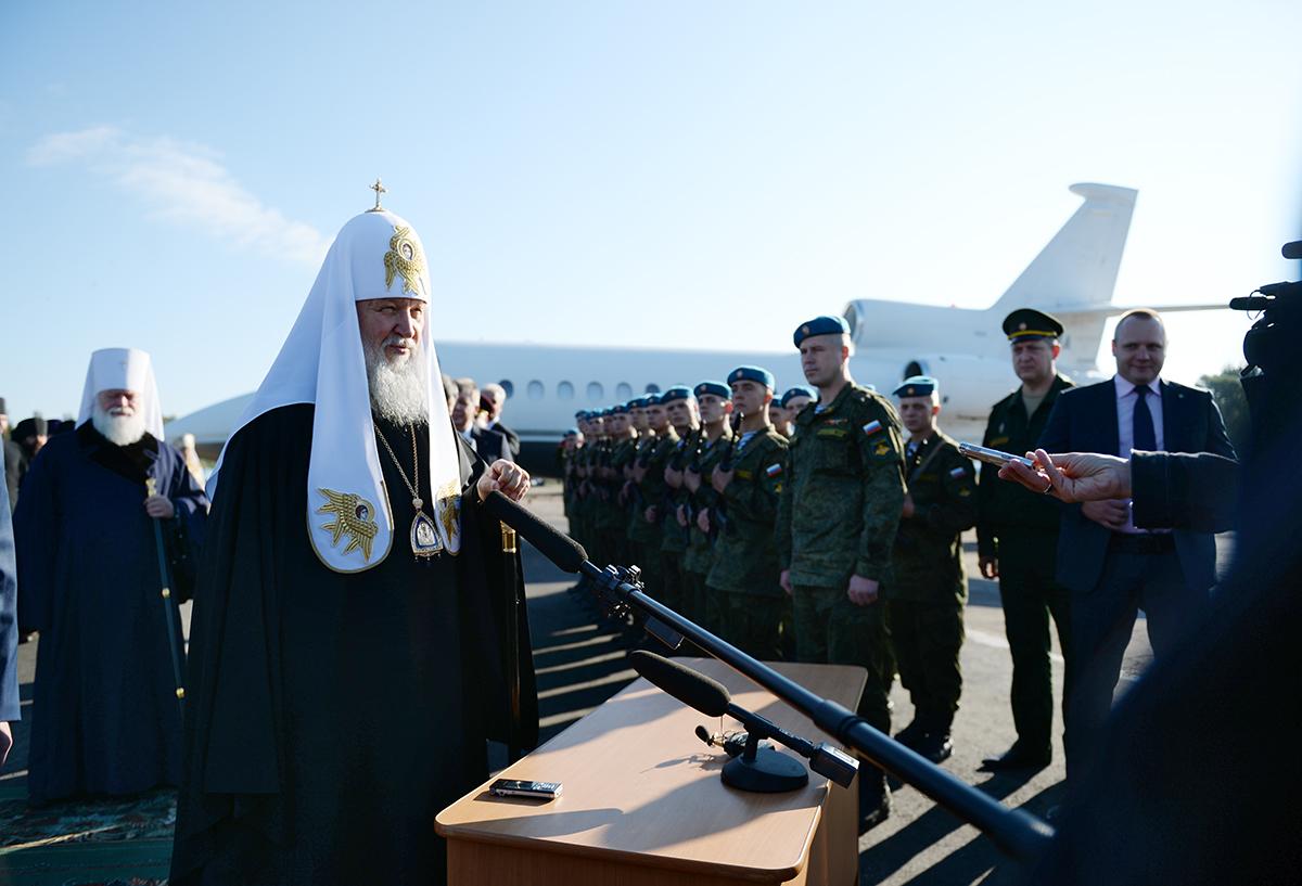Патриарший визит в Псковскую епархию. Прибытие в Псков