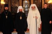 Состоялась встреча митрополита Волоколамского Илариона с Блаженнейшим Патриархом Румынским Даниилом