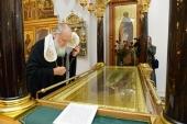 Святейший Патриарх Кирилл посетил Калужскую Свято-Тихонову пустынь