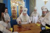 Митрополит Крутицкий и Коломенский Ювеналий освятил храм Рождества Богородицы в с. Талеж