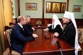 Состоялась встреча Святейшего Патриарха Кирилла с губернатором Хабаровского края В.И. Шпортом
