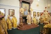 Предстоятель Русской Церкви совершил Божественную литургию в Преображенском кафедральном соборе г. Хабаровска