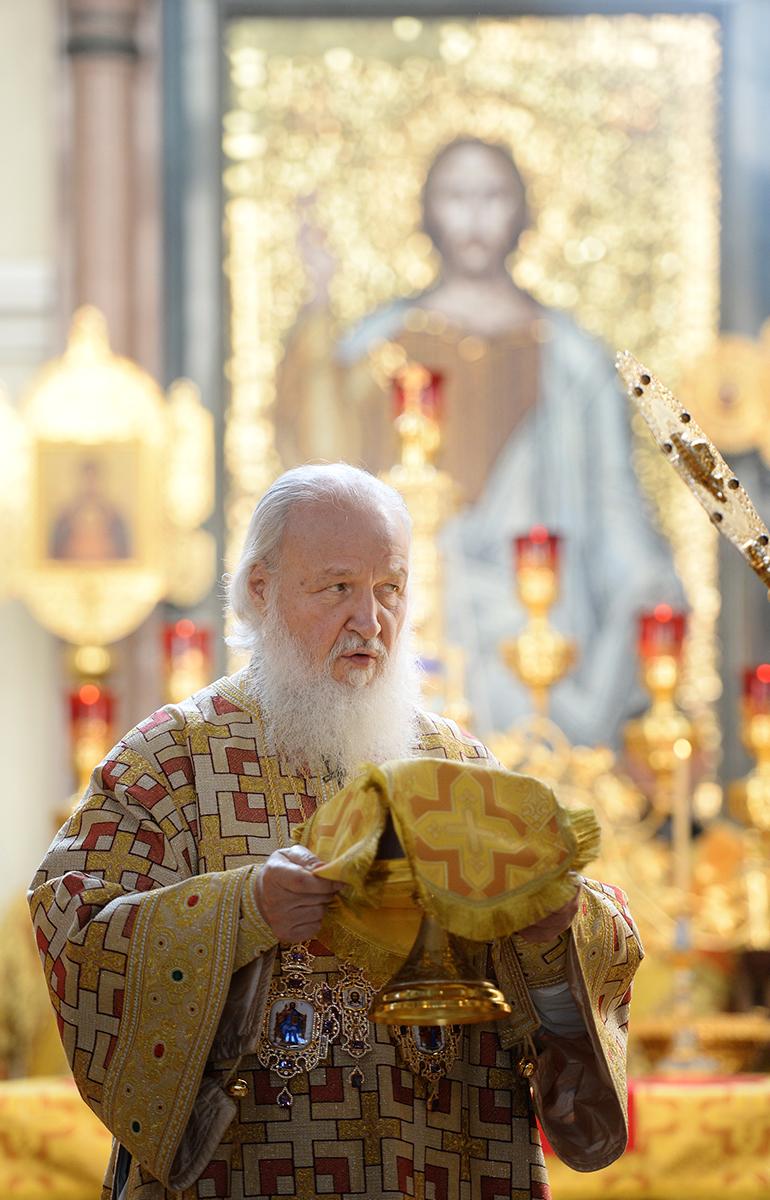 Патриарший визит в Приамурскую митрополию. Литургия в Преображенском соборе г. Хабаровска