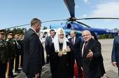 Святейший Патриарх Кирилл прибыл в Биробиджан