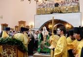 Предстоятель Русской Церкви совершил молебен в Благовещенском кафедральном соборе г. Биробиджана