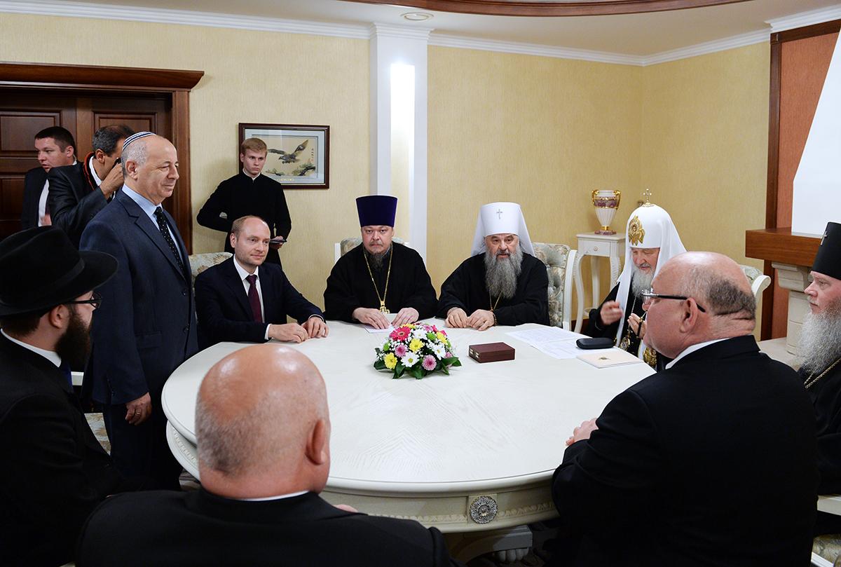 Патриарший визит в Биробиджанскую епархию. Встреча с представителями еврейской общины ЕАО
