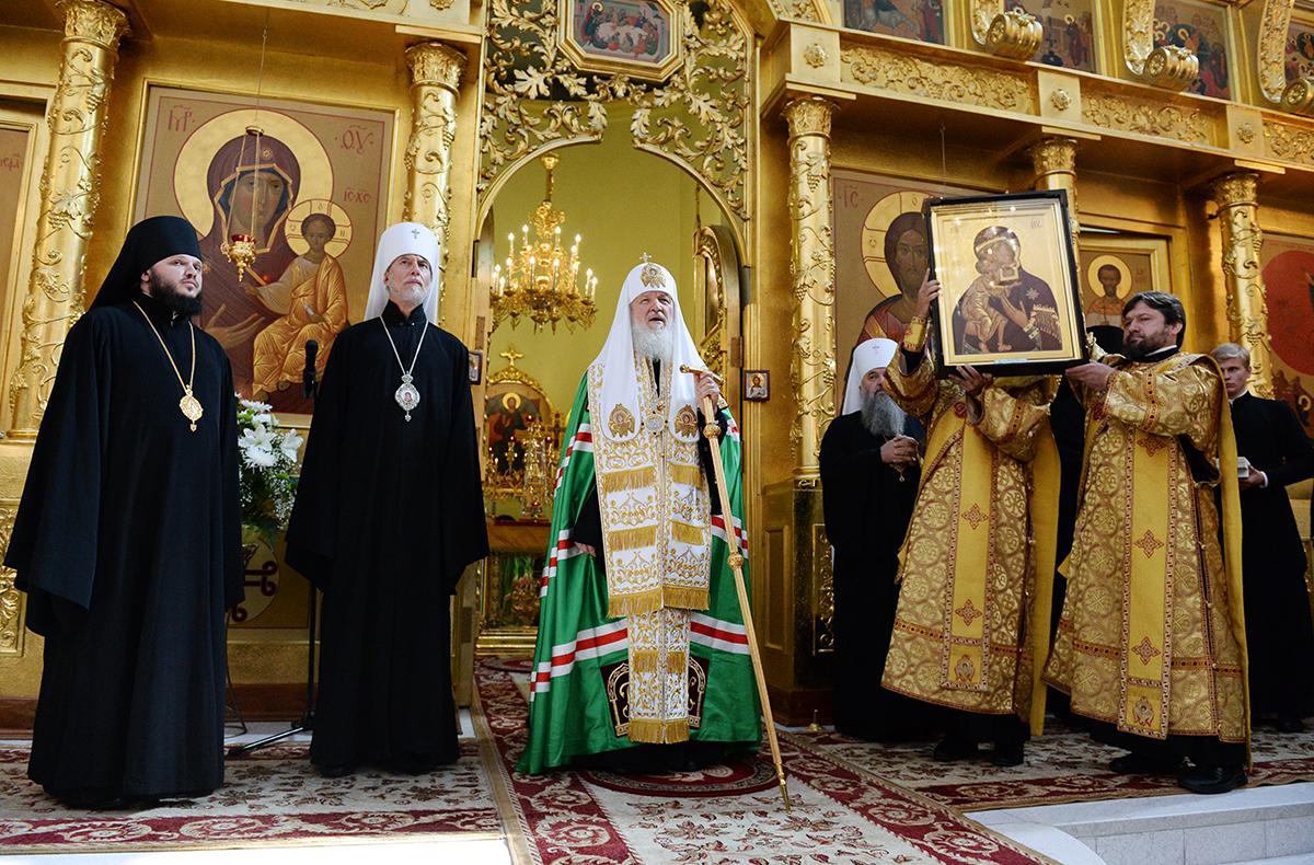 Патриарший визит в Приамурскую митрополию. Молебен в кафедральном соборе г. Комсомольска-на-Амуре