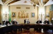 Под председательством Святейшего Патриарха Кирилла началось очередное заседание Высшего Церковного Совета Русской Православной Церкви