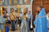 В праздник Рождества Пресвятой Богородицы митрополит Волоколамский Иларион совершил Литургию на месте Крещения Господня