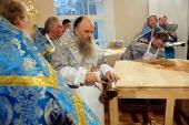 Митрополит Санкт-Петербургский Варсонофий освятил надвратный храм Александро-Невской лавры