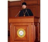 Заместитель председателя Синодального отдела по взаимоотношениям Церкви и общества выступил с докладом в Парламенте Чеченской Республики