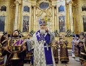 В праздник Воздвижения Креста Господня Предстоятель Русской Церкви совершил чин освящения московского храма священномученика Климента, папы Римского, и возглавил Литургию в новоосвященном храме