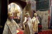 В день памяти святителя Киприана Московского митрополит Крутицкий и Коломенский Ювеналий совершил Литургию в Успенском соборе Московского Кремля