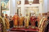В Алма-Ате прошли торжества в честь святых мучениц Веры, Надежды, Любови и матери их Софии — небесных покровительниц города, и 700-летия преподобного Сергия Радонежского
