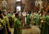 В канун дня преставления преподобного Сергия Радонежского Предстоятель Русской Церкви совершил всенощное бдение в Троице-Сергиевой лавре