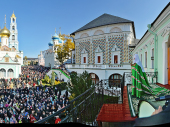 Слово Святейшего Патриарха Кирилла в день памяти преподобного Сергия Радонежского с балкона Патриарших покоев Троице-Сергиевой лавры