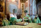 В день преставления преподобного Сергия Радонежского Предстоятель Русской Церкви возглавил торжества в Троице-Сергиевой лавре