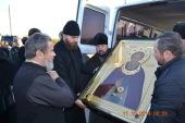 Икона с частицей мощей преподобного Сергия Радонежского принесена из Троице-Сергиевой лавры в епархии Православной Церкви Молдовы