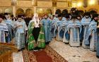 В праздник Покрова Пресвятой Богородицы Предстоятель Русской Церкви совершил Литургию в домовом храме Московских духовных школ