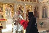 Святейший Патриарх Кирилл совершил Божественную литургию в храме святых равноапостольных Кирилла и Мефодия духовно-административного центра Русской Православной Церкви на Юге России