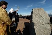 Предстоятель Русской Церкви совершил чин освящения закладного камня в основание нового кафедрального собора в Новороссийске