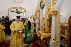 Предстоятель Русской Церкви совершил малое освящение храма свв. Кирилла и Мефодия при Саратовском государственном университете