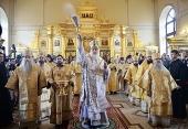 Предстоятель Русской Церкви совершил великое освящение храма святого апостола Иоанна Богослова в Саратовской духовной семинарии