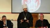 Митрополит Иларион вручил диплом почетного доктора Общецерковной аспирантуры и докторантуры профессору Андреа Риккарди