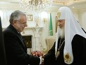 Святейший Патриарх Кирилл принял основателя Общины святого Эгидия профессора Андреа Риккарди