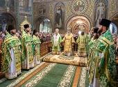 Предстоятель Украинской Православной Церкви совершил Литургию в Покровском женском монастыре г. Киева