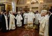 Патриаршее служение в Никольском храме на Большеохтинском кладбище Санкт-Петербурга