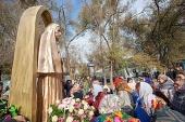 В Казахстане открыт памятник преподобномученице Елисавете Феодоровне