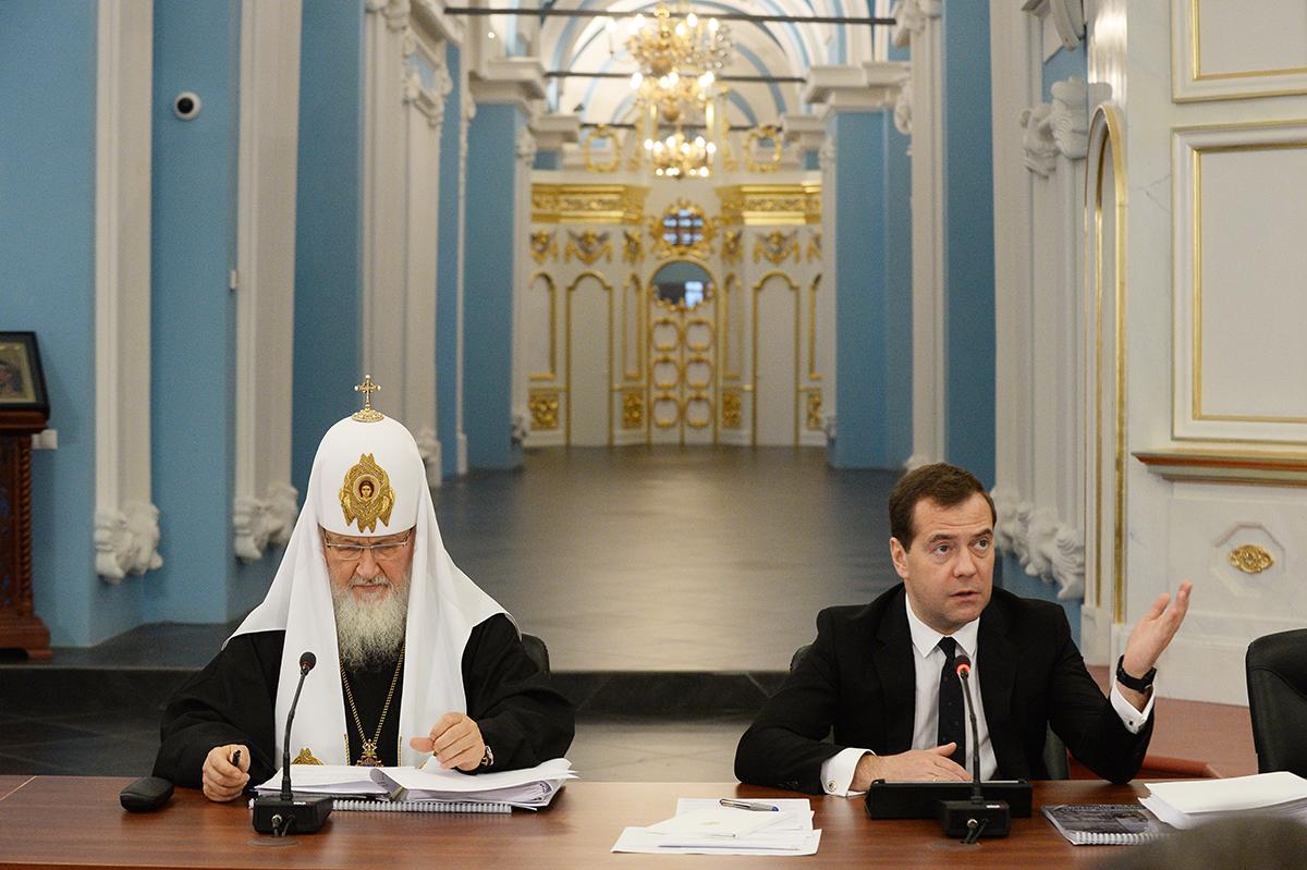 Заседание Попечительского совета фонда по восстановлению Ново-Иерусалимского монастыря. Осмотр реставрационных работ